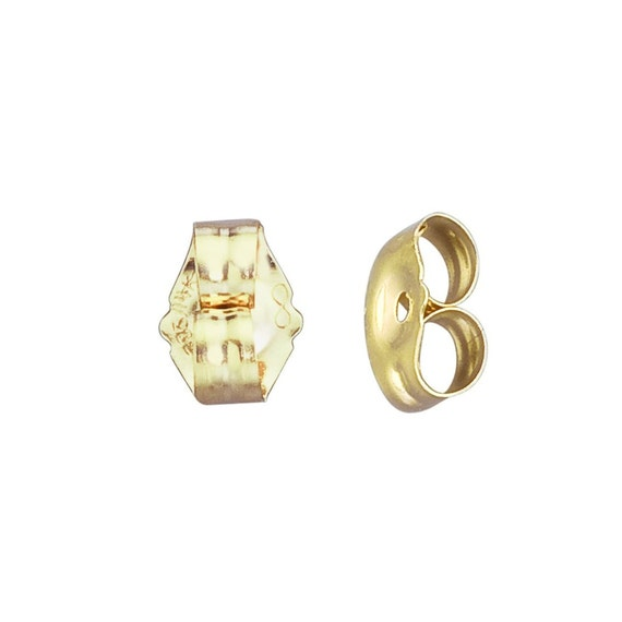 friction back earrings 14k yellow gold small friction earring backs ear post nuts 4754