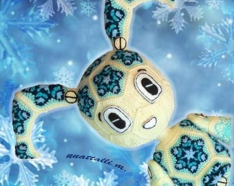 Robo-Snowgirl of Snowflake motif