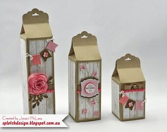 Trio Scalloped Gift Cartons Digital Tutorial