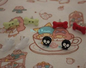 Cute creepy chips earrings
