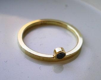 gracefully, Engagement, Gold, Black, Diamond, birthday, ring, Engagement