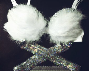 Angel Bra anf Half Tutu Outfit