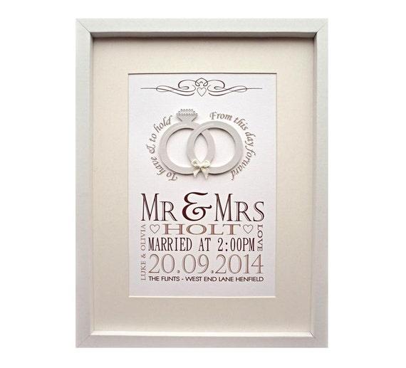 Gift For Husband On Wedding Day Etsy : ... Wedding Day KeepsakeValentines Gift for Wife or HusbandGift for
