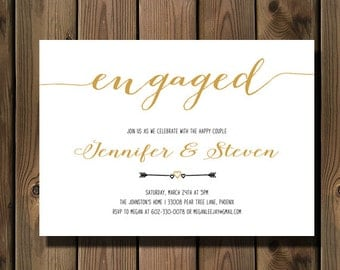 Engagement party invitation - Engagement Party Invite - Engagement Dinner - Couples Shower - DIY Printable_90