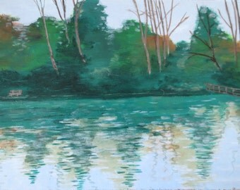 Acrylic painting: 'Reflection'