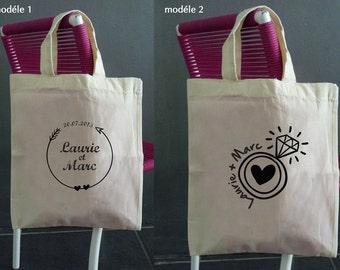 tote bag customizable wedding - 12 models