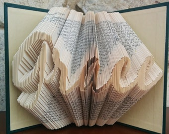 Grace - Folded Book Art - Fully Customizable, Graceful, religious