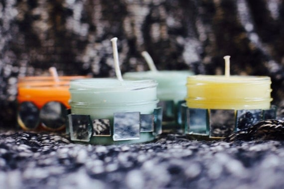 MADE TO ORDER: Mini Disco Candle || Handmade Soy Wax Chromotherapy Candle || 4oz Jelly Jar