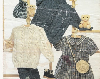 PDF Wendy Chnky Cable Cardigan and Sweater 0-6 mths - 4/5 yrs