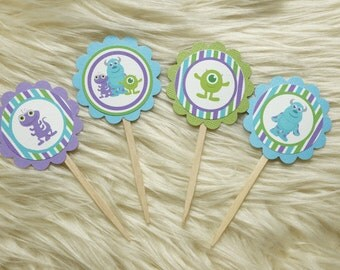 Monsters Inc Cupcake Toppers - Set of 24