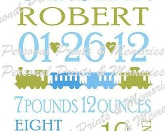 Birth Announcement A4 Prints