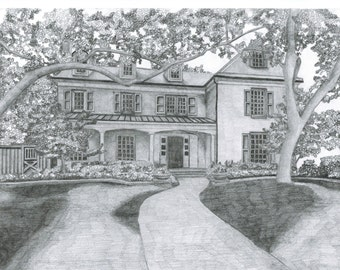 Custom One-of-a-Kind Drawing of Your Home!