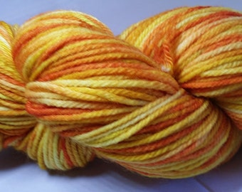 Better than Wisconsin Cheddar hand dyed worsted weight yarn-Township (218 yards)