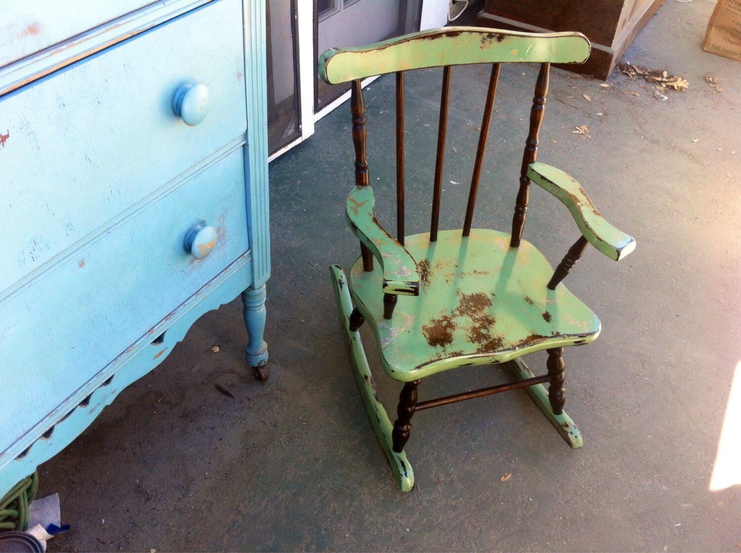 Painted kids rocking chair - Like This Item