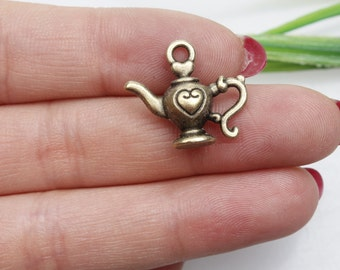 Own Charm~19x22mm Antique Bronze Teapot Charms Pendants Jewelry Findings Wholesale
