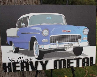 55 Chevy Canvas Gallery Wrap