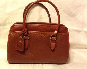 Rare Vintage Classic Liz Claiborne All Leather Satchel Handbag