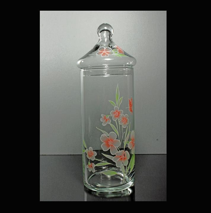 decorative glass apothecary jar with lid. Black Bedroom Furniture Sets. Home Design Ideas