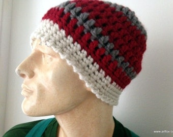 Beanie - crochet hat for men and women