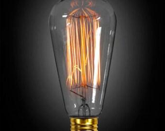 60 Watt Edison-Style Bulbs - 1910 Reproduction for Vintage Lighting (Bulbs Only)