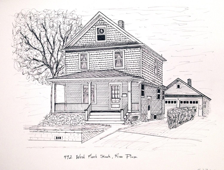 custom ink house drawing zoom