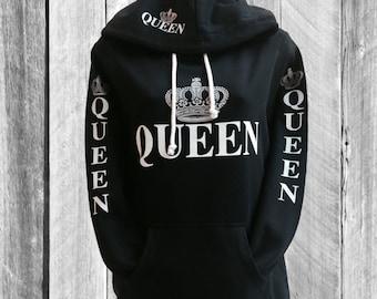 """Black """"Queen"""" Hoodie"""