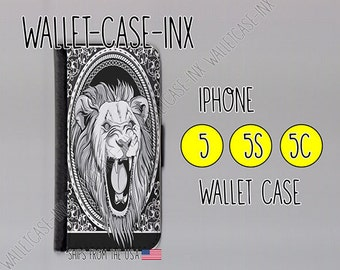 iphone 5 wallet case , iphone 5s wallet case , iphone 5c wallet case , iphone 5 case , iphone 5s case , iphone 5c case - Lion Roar