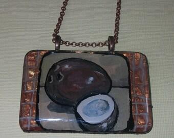Chunky Glass Coconut Pendant
