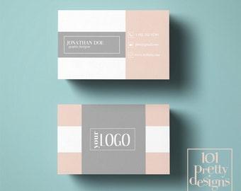 Pink business card design custom business card template printable business card template modern business card design photography minimal