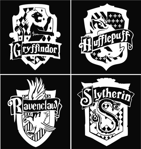 Pin Gryffindor-crest-black-and-white on Pinterest