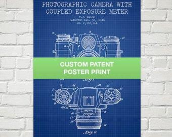 Custom Patent Poster Print, Wall Art, Home Decor, Gift Idea