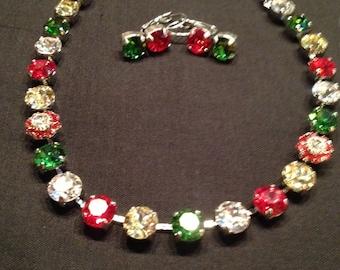 Swarovski christmas necklace