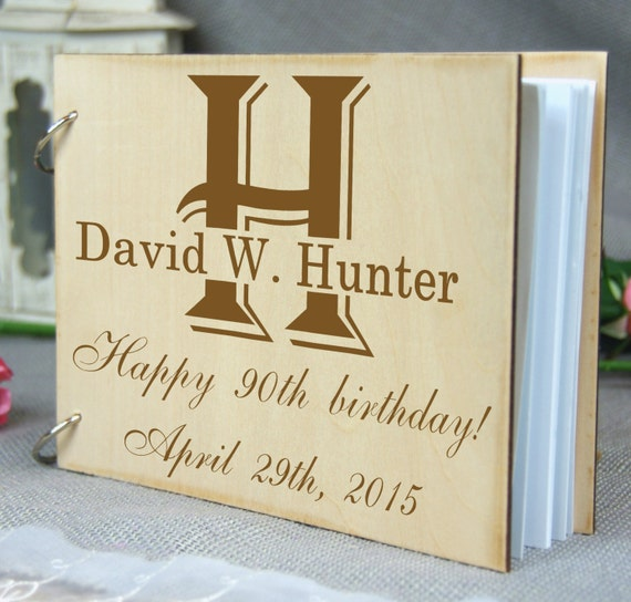 Guest book birthday anniversary memory by lasertree