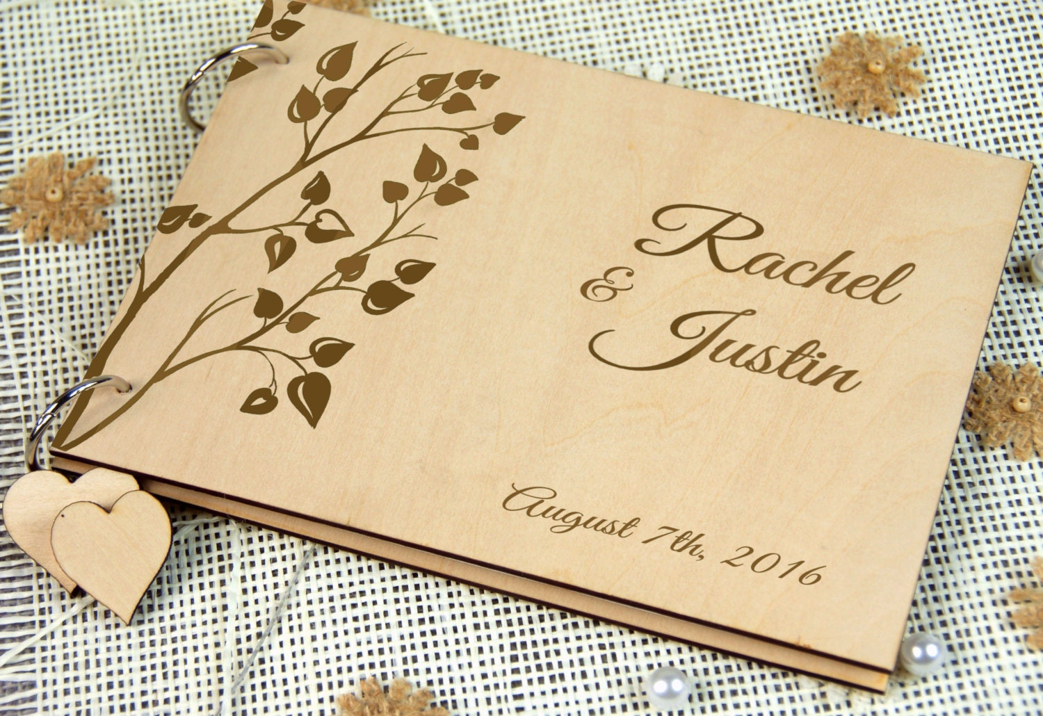 Personalised Wedding Gifts For Guests: Custom Unique Wedding-Anniversary-Bridal Shower Guest Book