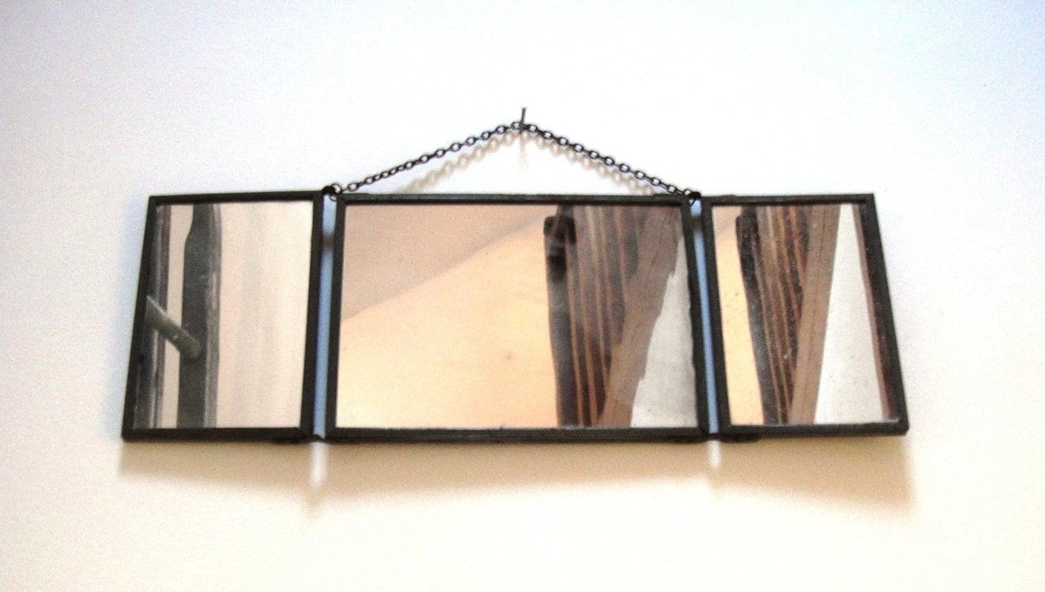 SOLD OUT French Vintage barber mirror trifold by PopVintages