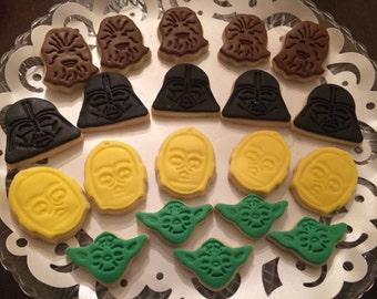 Two Dozen Star Wars Mini Sugar Cookies