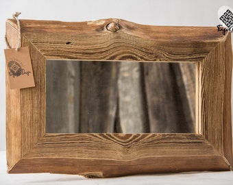 Handcrafted reclaimed wood mirror