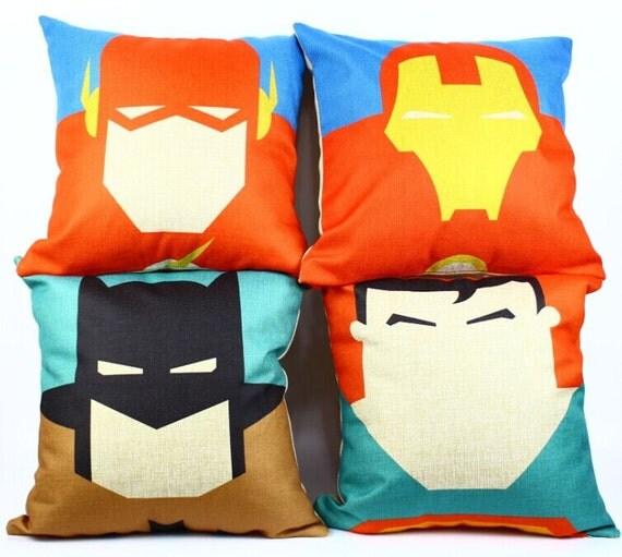 Avengers superhero Justice League batman superrman Iron man flash cotton linen throw pillow cushion cover pillowcase/home decor/houseware