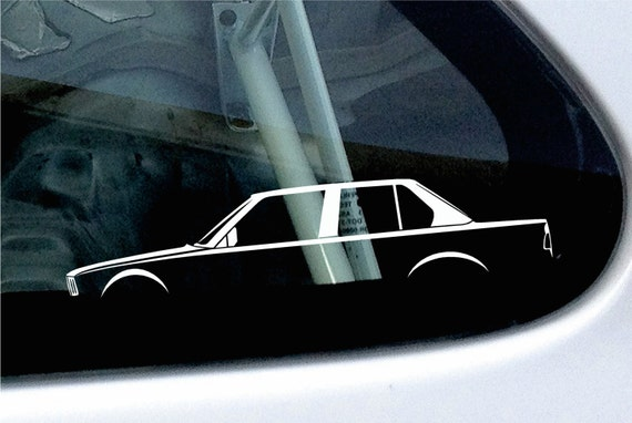 2x Car Silhouette Stickers For Bmw E30 3 Series 4 Door