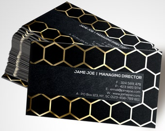 Metallic Finish Business Cards