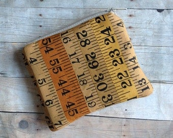 Tape measure card pouch/ coin pouch