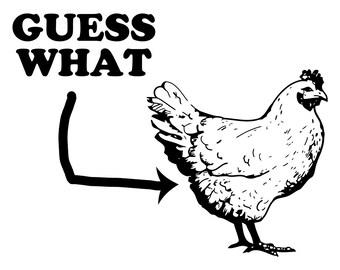 Guess What? Chicken Butt! Cute Tee