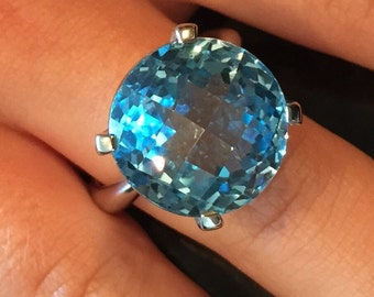 Blue Topaz Ring S925