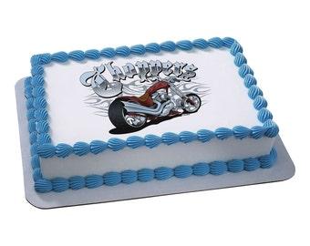 "Edible Image Motorcycle ""Choppers"""