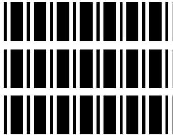 Black Strips Edible Image