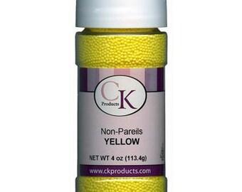 Bright Yellow Non-Pareils