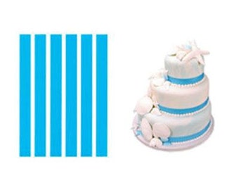 LUCKS AQUA BLUE Edible Shimmer Ribbons