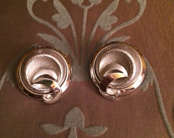 Vintage Silver Coro Clip On Earrings, signed