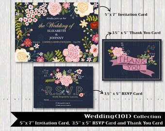 Flower Clipart, Wedding floral Clip art, Floral Bouquet Clipart, wedding flowers clip art, Colorful Card Clip Art