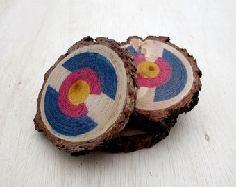 Colorado Flag Wood Print Coaster Set